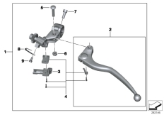 Goto diagram: BMW Classic Motorrad Modell HP4 (0D01, 0D11)( ECE ), Category 32.72 Clutch control assembly :: Diagram: 32_2101