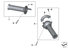 Goto diagram: BMW Classic Motorrad Modell C 650 Sport 16 (0C04, 0C14)( USA ), Category 32.71 Handlebar grips :: Diagram: 32_2117
