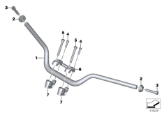 Goto diagram: BMW Classic Motorrad Modell R nineT (0A06, 0A16)( USA ), Category 32.71 Handlebar :: Diagram: 32_2189