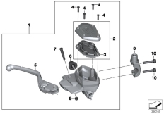 Goto diagram: BMW Classic Motorbike Model R nineT (0A06, 0A16)( USA ), Category 32.72 Handbrake control assembly :: Diagram: 32_2191