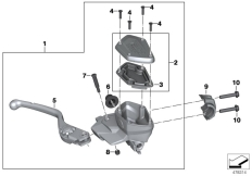 Goto diagram: BMW Classic Motorrad Modell R 1200 RS (0A05, 0A15)( USA ), Category 32.72 Handbrake control assembly :: Diagram: 32_2293