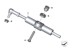 Goto diagram: BMW Classic Motorrad Modell R 1200 RT (0A03, 0A13)( USA ), Category 32.76 STEERING DAMPER :: Diagram: 32_2295