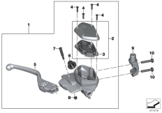 Goto diagram: BMW Classic Motorbike Model K 1600 Bagger (0F51, 0F53)( USA ), Category 32.72 Handbrake control assembly :: Diagram: 32_2491