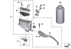 Goto diagram: BMW Classic Motorbike Model K 1600 Bagger (0F51, 0F53)( USA ), Category 32.72 Clutch control assembly :: Diagram: 32_2492