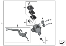 Goto diagram: BMW Classic Motorrad Modell G 310 GS (0G22)( BRA ), Category 32.72 Handbrake control assembly :: Diagram: 32_2519