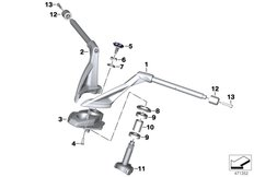 Goto diagram: BMW Classic Motorrad Modell K 1600 Bagger (0F51, 0F53)( USA ), Category 32.71 Handlebar :: Diagram: 32_2559
