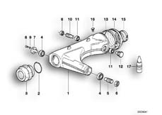 Goto diagram: BMW Classic Motorbike Model K 100 RS (0523,0533)( USA ), Category 33.15 Rear wheel swinging arm :: Diagram: 33S0660