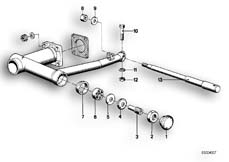 Goto diagram: BMW Classic Motorbike Model R65( USA ), Category 33.20 Rear wheel swinging arm parts :: Diagram: 33_0624