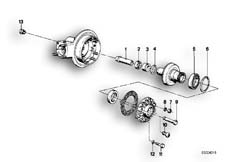 Goto diagram: BMW Classic Motorbike Model R 100 S( ECE ), Category 33.10 Rear-axle-drive parts :: Diagram: 33_0633