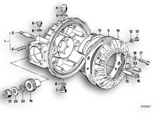 Goto diagram: BMW Classic Motorbike Model R 80 RT( USA ), Category 33.10 DIFFERENTIAL-HOUSING/HOUSING COVER :: Diagram: 33_0644