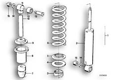 Goto diagram: BMW Classic Motorbike Model R 80 RT( USA ), Category 33.25 Spring strut, rear :: Diagram: 33_0647