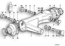 Goto diagram: BMW Classic Motorrad Modell R 80 R 91( ECE ), Category 33.15 Rear wheel swinging arm :: Diagram: 33_0653