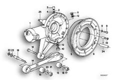 Goto diagram: BMW Classic Motorbike Model R 100 R Mystik 94( ECE ), Category 33.10 Rear-axle-drive parts :: Diagram: 33_0655