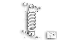 Goto diagram: BMW Classic Motorrad Modell R 1100 R 94 (0402,0407)( USA ), Category 33.54 Spring strut, rear :: Diagram: 33_0665