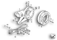 Goto diagram: BMW Classic Motorbike Model R 1100 GS 94 (0404,0409)( USA ), Category 33.75 Rear axle housing and rod :: Diagram: 33_0667