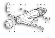 Goto diagram: BMW Classic Motorbike Model R 1100 GS 94 (0404,0409)( USA ), Category 33.35 Rear wheel swinging arm :: Diagram: 33_0669