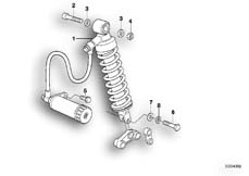 Goto diagram: BMW Classic Motorbike Model F 650 ST 97 (0163,0168)( ECE ), Category 33.54 Spring strut, rear :: Diagram: 33_0671