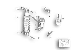 Goto diagram: BMW Classic Motorbike Model R 1100 GS 94 (0404,0409)( USA ), Category 33.54 Spring strut, rear :: Diagram: 33_0675