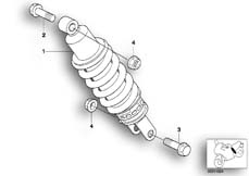 Goto diagram: BMW Classic Motorbike Model R 1200 C Indep. 00 (0405,0433)( ECE ), Category 33.54 Spring strut, rear :: Diagram: 33_0834