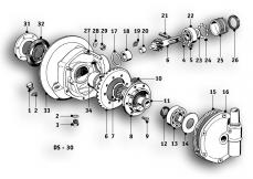 Goto diagram: BMW Classic Motorbike Model R51/2( ECE ), Category 33.05 Rear Axle :: Diagram: 33_0990