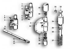 Goto diagram: BMW Classic Motorbike Model R51/2( ECE ), Category 33.05 Rear Axle :: Diagram: 33_0991