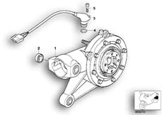 Goto diagram: BMW Classic Motorbike Model K 1200 GT 01 (0548,0558)( USA ), Category 33.74 Rear-axle-drive :: Diagram: 33_1007