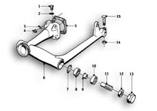 Goto diagram: BMW Classic Motorrad Modell R69 S( ECE ), Category 33.15 Rear Axle :: Diagram: 33_1008