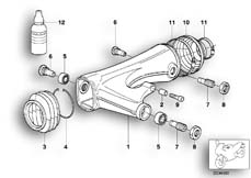 Goto diagram: BMW Classic Motorbike Model R 1150 GS Adv. 01 (0441,0492)( USA ), Category 33.35 Rear wheel swinging arm :: Diagram: 33_1019
