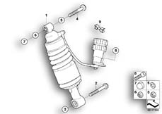 Goto diagram: BMW Classic Motorbike Model K 1200 GT 01 (0548,0558)( USA ), Category 33.54 Spring strut, rear :: Diagram: 33_1156