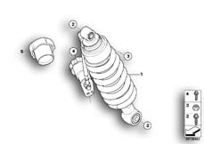 Goto diagram: BMW Classic Motorbike Model R 1200 CL (0442,0496)( USA ), Category 33.54 Spring strut, rear :: Diagram: 33_1163