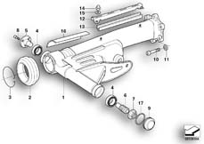 Goto diagram: BMW Classic Motorbike Model R 1200 CL (0442,0496)( USA ), Category 33.35 Rear wheel swinging arm :: Diagram: 33_1176