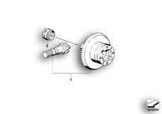Goto diagram: BMW Classic Motorbike Model R 1200 CL (0442,0496)( USA ), Category 33.76 DIFFERENTIAL GEAR SET :: Diagram: 33_1195