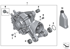 Goto diagram: BMW Classic Motorbike Model K 1600 GTL 17 (0F02, 0F12)( USA ), Category 33.74 Bevel gear, rear :: Diagram: 33_1604