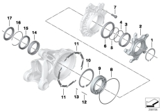 Goto diagram: BMW Classic Motorbike Model R nineT (0A06, 0A16)( USA ), Category 33.76 Bearing, crown wh, lid with ventilation :: Diagram: 33_1627