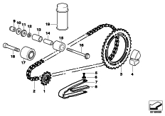 Goto diagram: BMW Classic Motorbike Model G 650 GS 09 (0178,0179)( ECE ), Category 33.81 CHAIN DRIVE :: Diagram: 33_1639