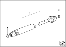Goto diagram: BMW Classic Motorbike Model K 1100 LT (0526, 0536)( ECE ), Category 33.73 Drive Shaft :: Diagram: 33_1658