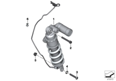 Goto diagram: BMW Classic Motorbike Model S 1000 R 17 (0D72)( BRA ), Category 33.54 Spring strut, rear :: Diagram: 33_1707