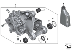 Goto diagram: BMW Classic Motorrad Modell R 1200 RS (0A05, 0A15)( USA ), Category 33.74 Bevel gear, rear :: Diagram: 33_1715