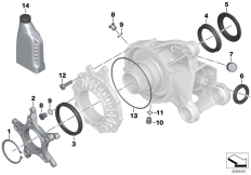 Goto diagram: BMW Classic Motorrad Modell R 1200 RS (0A05, 0A15)( USA ), Category 33.74 Bevel gear, single parts :: Diagram: 33_1716