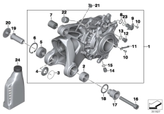Goto diagram: BMW Classic Motorbike Model R 1200 GS 04 (0307,0317)( ECE ), Category 33.74 Bevel gear, Integral ABS Generation 2 :: Diagram: 33_1772