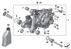 Goto diagram: BMW Classic Motorrad Modell R 1200 S (0366,0396)( ECE ), Category 33.74 Bevel gear, rear :: Diagram: 33_1773