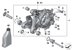 Goto diagram: BMW Classic Motorbike Model R 900 RT 05 SF (0367,0387)( ECE ), Category 33.74 Bevel gear, Integral ABS Generation 1 :: Diagram: 33_1775