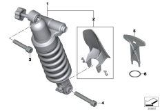 Goto diagram: BMW Classic Motorrad Modell R 1200 RT (0A03, 0A13)( USA ), Category 33.54 Spring strut, rear :: Diagram: 33_1793