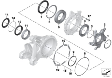 Goto diagram: BMW Classic Motorrad Modell R 1200 S (0366,0396)( ECE ), Category 33.76 Bearing, crown wheel :: Diagram: 33_1805