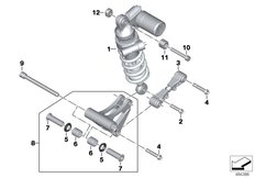 Goto diagram: BMW Classic Motorrad Modell HP4Race (0E31, 0E33)( ECE ), Category 33.54 REAR SPRING STRUT MOUNTING PARTS :: Diagram: 33_2157