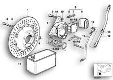 Goto diagram: BMW Classic Motorrad Modell R 80 G/S( ECE ), Category 34.05 FRONT WHEEL BRAKE :: Diagram: 34_0593
