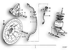 Goto diagram: BMW Classic Motorbike Model R65( USA ), Category 34.05 Retrofit kit, double disc brake :: Diagram: 34_0598