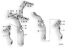 Goto diagram: BMW Classic Motorbike Model R65( USA ), Category 34.05 FRONT BRAKE-BRAKE PIPE :: Diagram: 34_0601