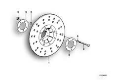 Goto diagram: BMW Classic Motorbike Model R 100 S( ECE ), Category 34.05 FRONT BRAKE DISC :: Diagram: 34_0603