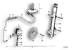 Goto diagram: BMW Classic Motorbike Model R90/6( ECE ), Category 34.05 Retrofit kit, double disc brake :: Diagram: 34_0607